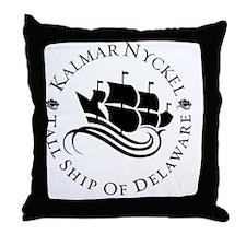 Black on whilte full circle logo Throw Pillow