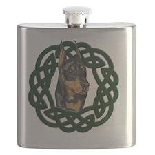 Celtic Doberman Portrait Flask
