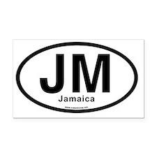 JM - Jamaica oval Rectangle Car Magnet