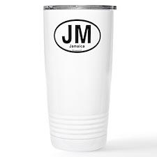 JM - Jamaica oval Travel Coffee Mug