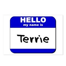 hello my name is terrie  Postcards (Package of 8)