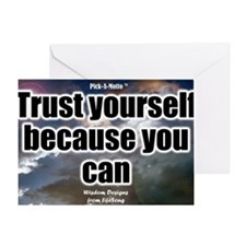 Trust Yourself Poster Greeting Card