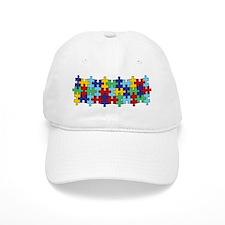 Autism Awareness Puzzle Piece Pattern Baseball Cap