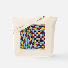 Autism Awareness Puzzle Piece Pattern Tote Bag