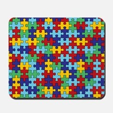 Autism Awareness Puzzle Piece Pattern Mousepad