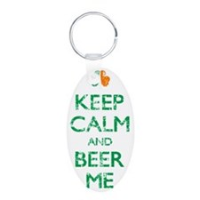 Keep Calm And Beer Me Irish Keychains