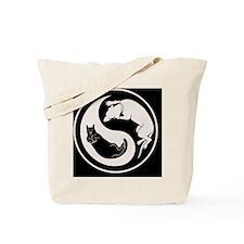 cat-dog-yang-bw-PLLO Tote Bag