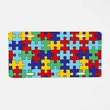 Autism Awareness Puzzle Pie Aluminum License Plate
