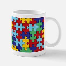 Autism Awareness Puzzle Piece Pattern Mug