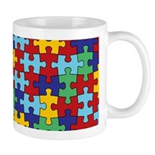 Autism Awareness Puzzle Piece Pattern Small Mugs
