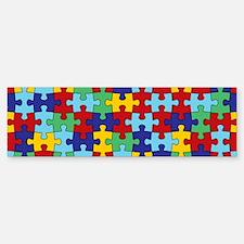 Autism Awareness Puzzle Piece Pat Bumper Bumper Sticker