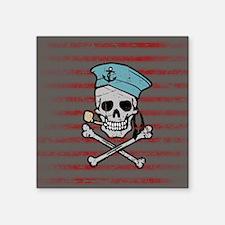 """Sailor Skull Square Sticker 3"""" x 3"""""""