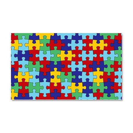 Autism Awareness Puzzle Piece P Car Magnet 20 x 12