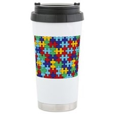Autism Awareness Puzzle Travel Coffee Mug