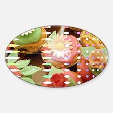 Cupcake Dreams Cat Forsley Designs Sticker (Oval)