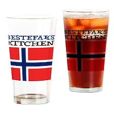 Bestefars Kitchen Apron Drinking Glass