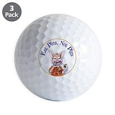 Eat Pies Not Pigs Golf Ball