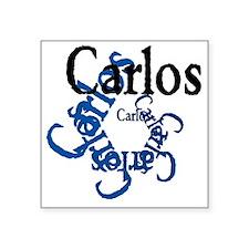 """Carlos Square Sticker 3"""" x 3"""""""