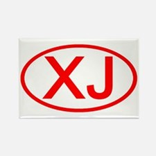 XJ Oval (Red) Rectangle Magnet