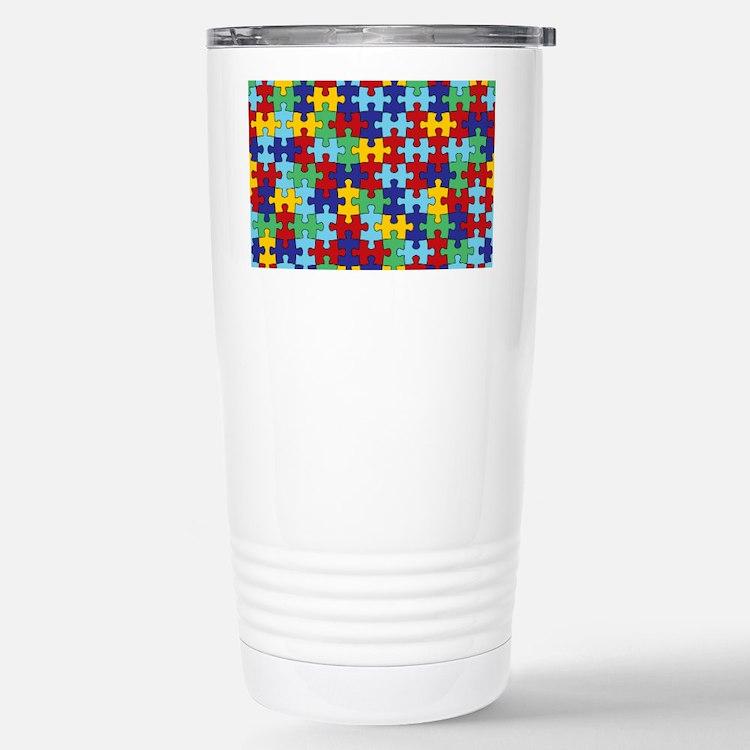 Autism Awareness Puzzle Stainless Steel Travel Mug