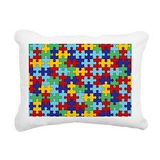 Autism Awareness Puzzle  Rectangular Canvas Pillow