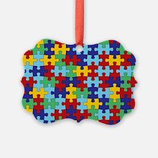 Autism Awareness Puzzle Piece Pat Ornament