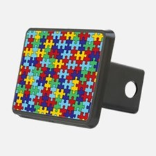 Autism Awareness Puzzle Pi Hitch Cover