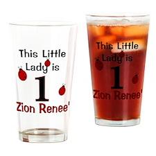 1 Ladybug ZION RENEE - Custom Drinking Glass
