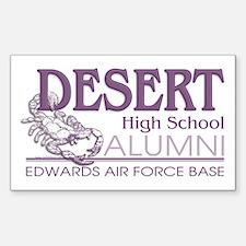 DHS Alumni Logo Sticker (Rect.)