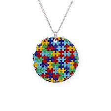 Autism Awareness Puzzle Piec Necklace