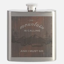 the mountain is calling and i must go poster Flask