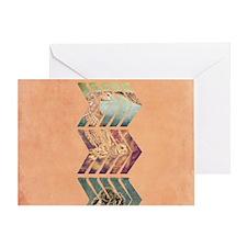 Chevron Owls Greeting Card
