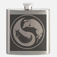 cat-dog-yang-bw-BUT Flask