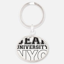 Bear University NYC Oval Keychain