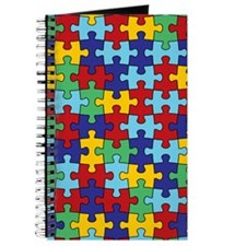 Autism Awareness Puzzle Piece Pattern Journal