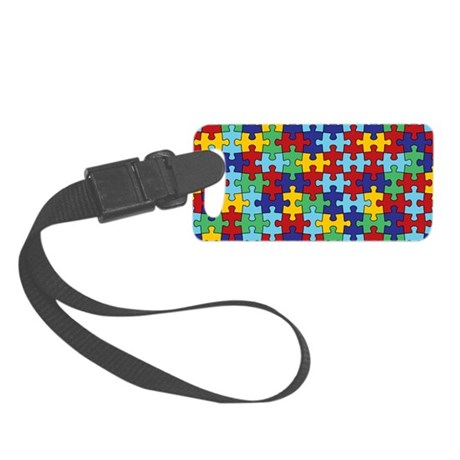 Autism Awareness Puzzle Piece Pa Small Luggage Tag