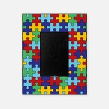 Autism Awareness Puzzle Piece Patter Picture Frame