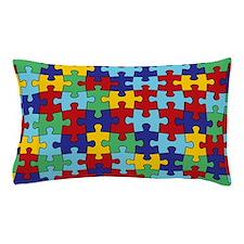 Autism Awareness Puzzle Piece Pattern Pillow Case