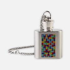Autism Awareness Puzzle Piece Patte Flask Necklace