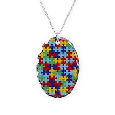 Autism Awareness Puzzle Piece  Necklace
