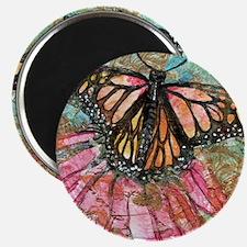 Orange Butterfly Fairy Magnet