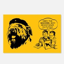 Bouvier Resistance is Futile Postcards (8 pack)