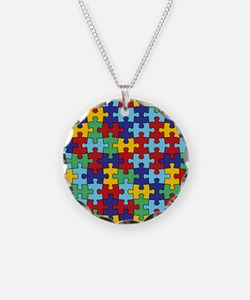 Autism Awareness Puzzle Piec Necklace