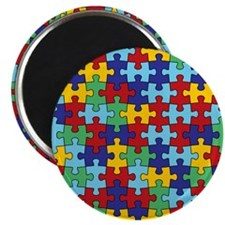 Autism Awareness Puzzle Piece Pattern Magnet