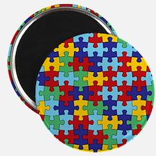 Autism Awareness Puzzle Piece Pattern Magnet
