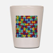 Autism Awareness Puzzle Piece Pattern Shot Glass