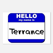 hello my name is terrance  Postcards (Package of 8