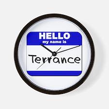 hello my name is terrance  Wall Clock