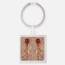 gypsy girl Square Keychain