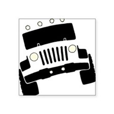 "Jeepster Rock Crawler Square Sticker 3"" x 3"""